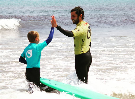 Surf Camp familias verano en Suances